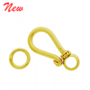 Vermeil Simple Hook Clasp CS5522-V
