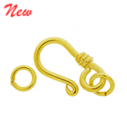 Vermeil Simple Hook Clasp CS5525-V