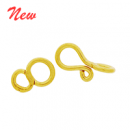 Vermeil Simple Hook Clasp CS5527-V